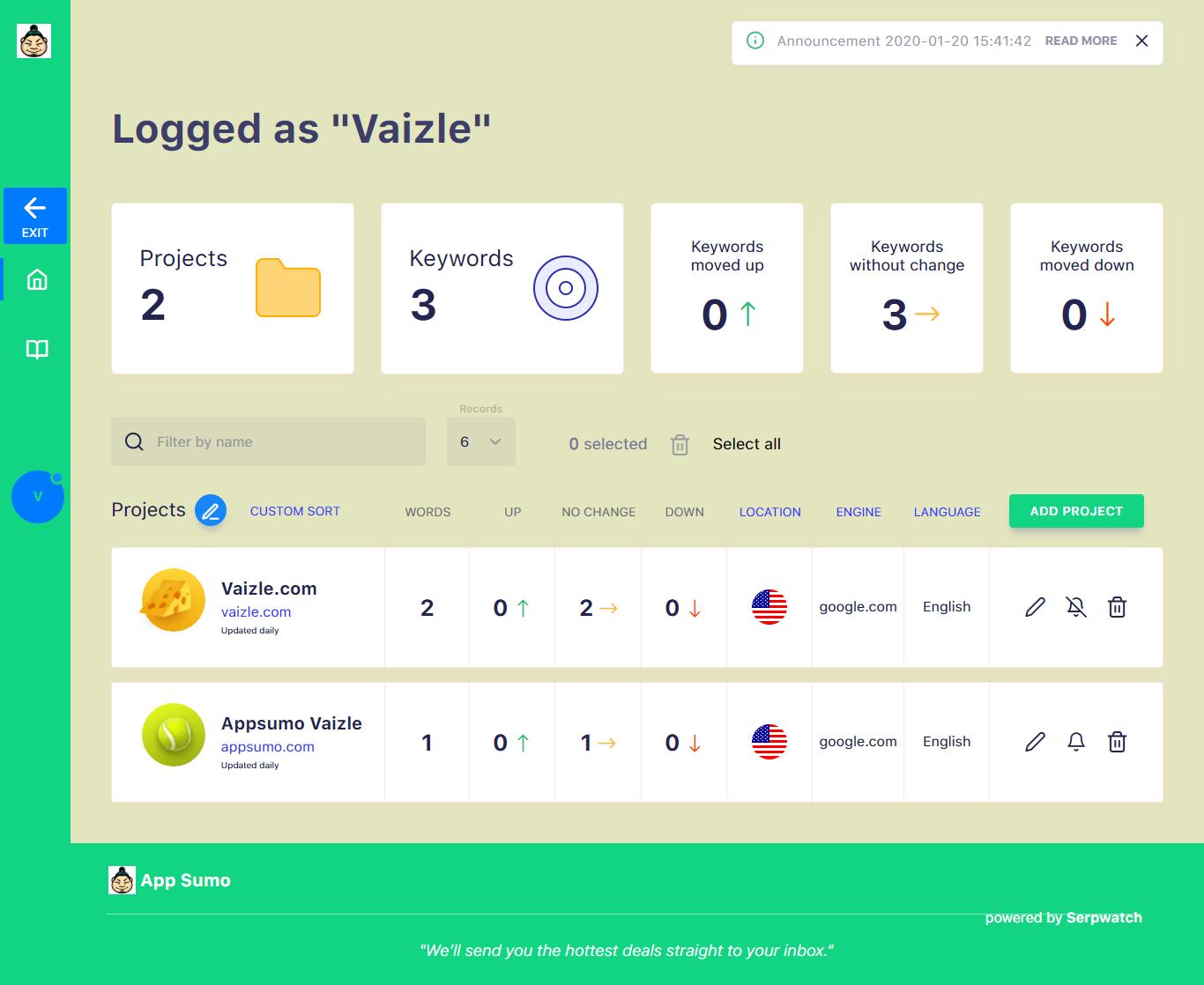 SerpWatch Client Portal