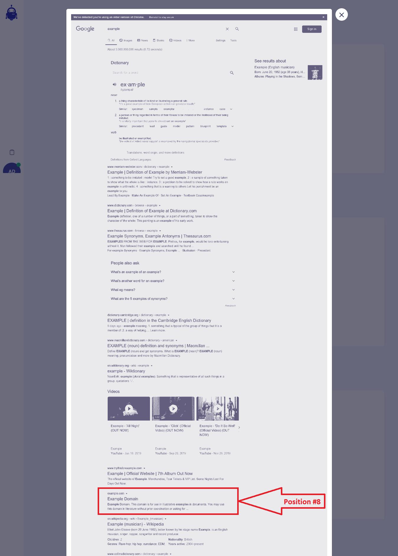 SerpWatch Ranking Screenshot