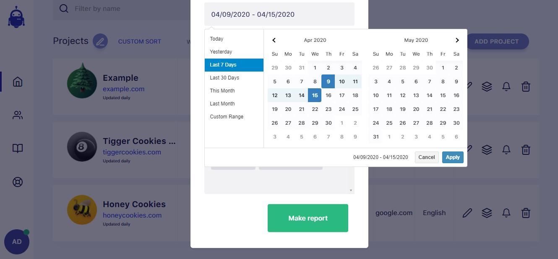 SerpWatch Project Report Setup Time Frame