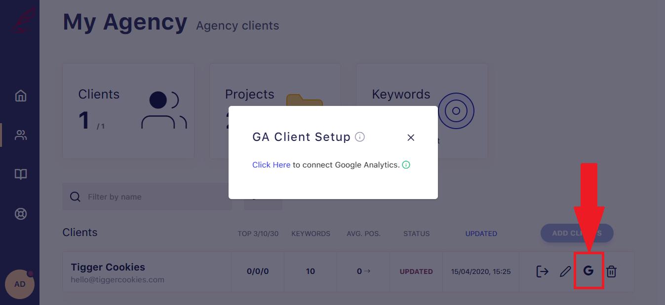 SerpWatch White Label Client GA Setup